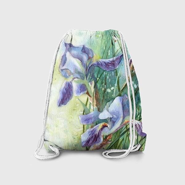 Рюкзак «Ирисы голубые»