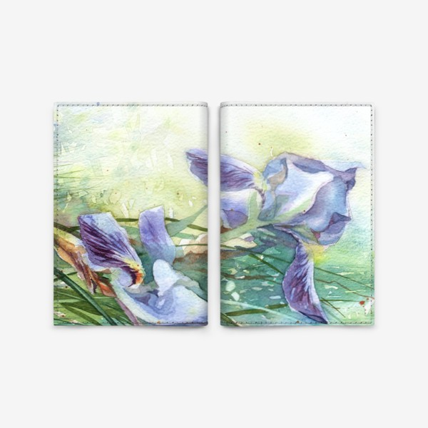 Обложка для паспорта «Ирисы голубые»