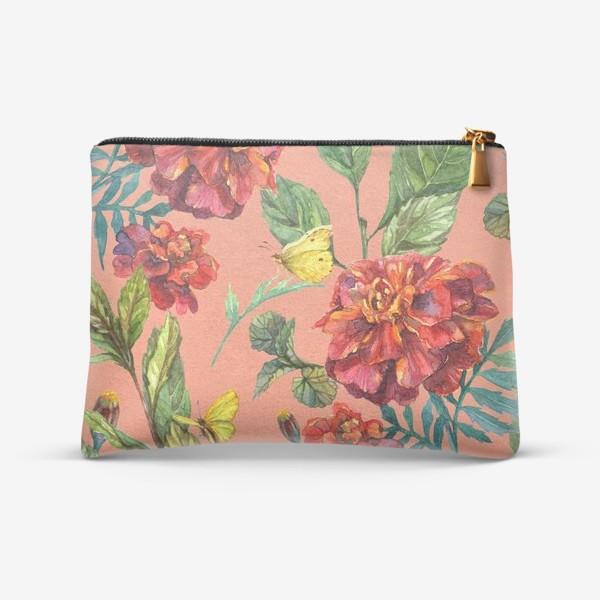 Косметичка «Цветы и бабочки»
