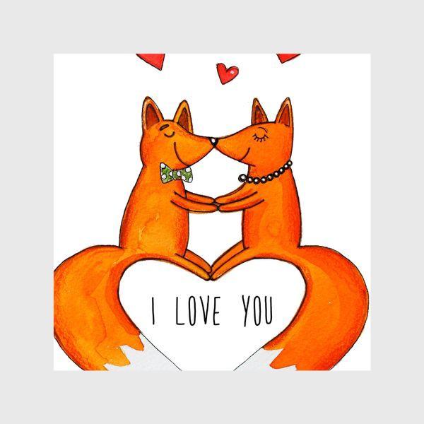 Шторы «Влюбленные лисы»