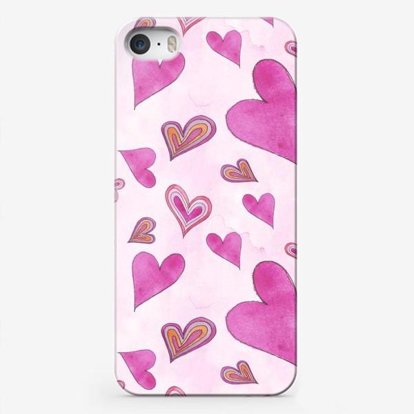 Чехол iPhone «Hearts Pink»