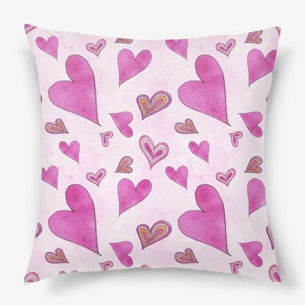 Подушка «Hearts Pink»