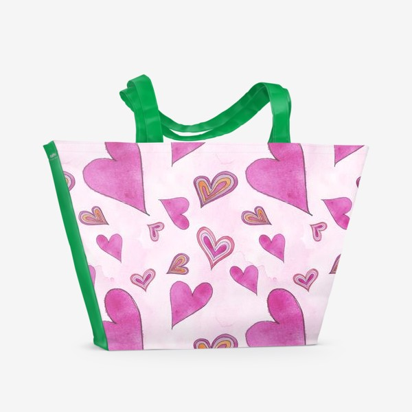 Пляжная сумка «Hearts Pink»