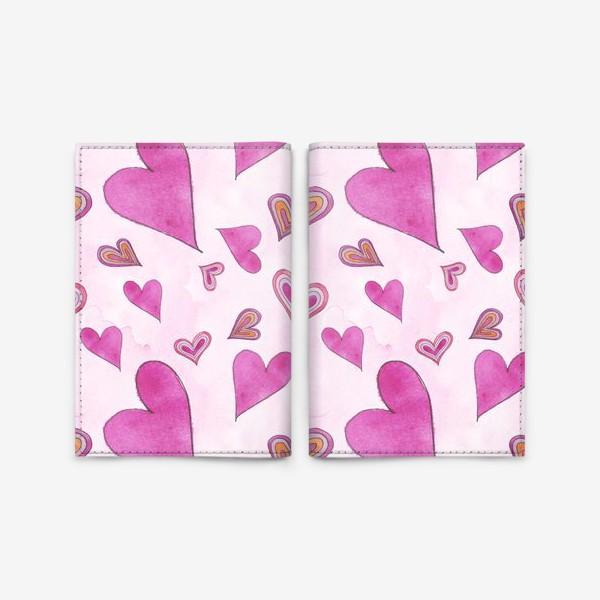 Обложка для паспорта «Hearts Pink»