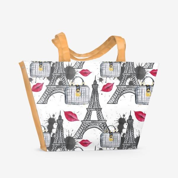 Пляжная сумка «Paris Pattern»