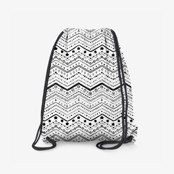 Рюкзак «Черные узоры на белом»