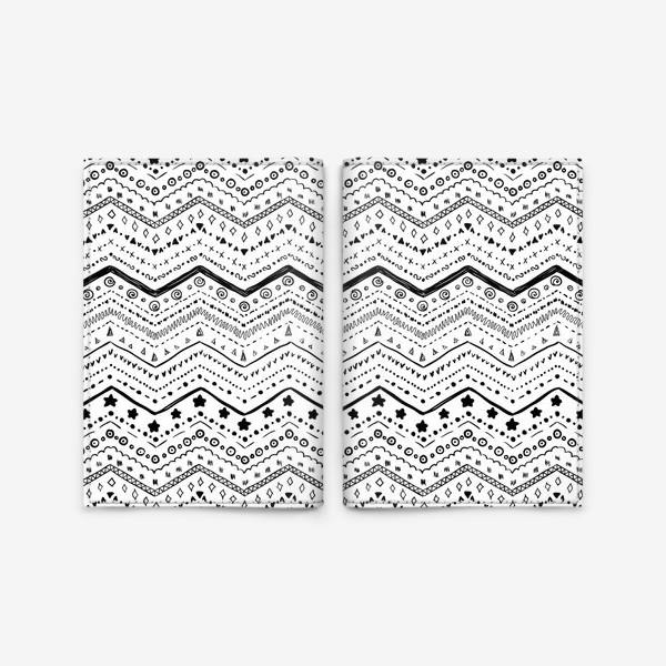 Обложка для паспорта «Черные узоры на белом»