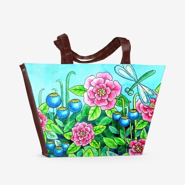 Пляжная сумка «Цветочное настроение»