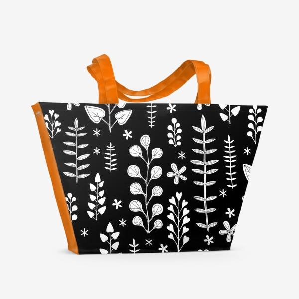 Пляжная сумка «Растительный орнамент»