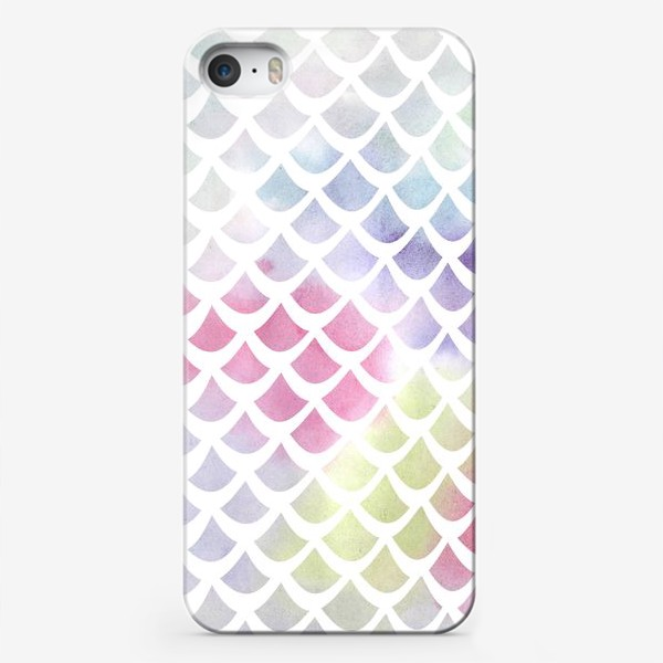 Чехол iPhone «Акварельная чешуя»