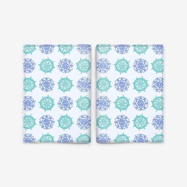 Обложка для паспорта «Голубые снежинки»