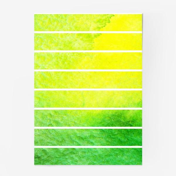 Постер «Яркие полоски акварель»