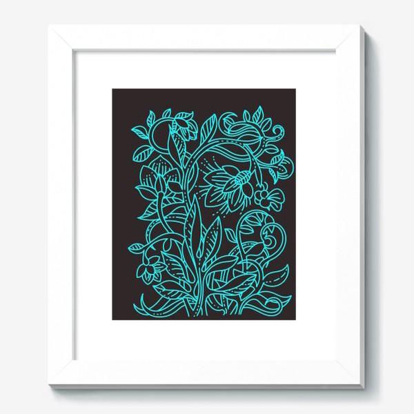 Картина «Бирюзовая ботаника»