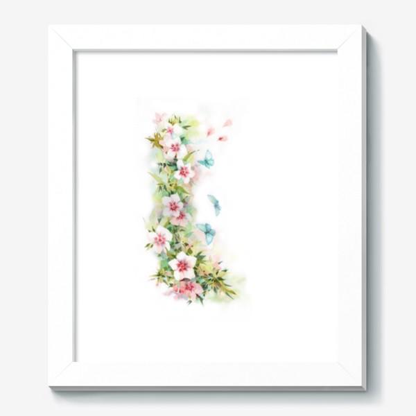 Картина «Ф локсы с голубыми мотыльками»