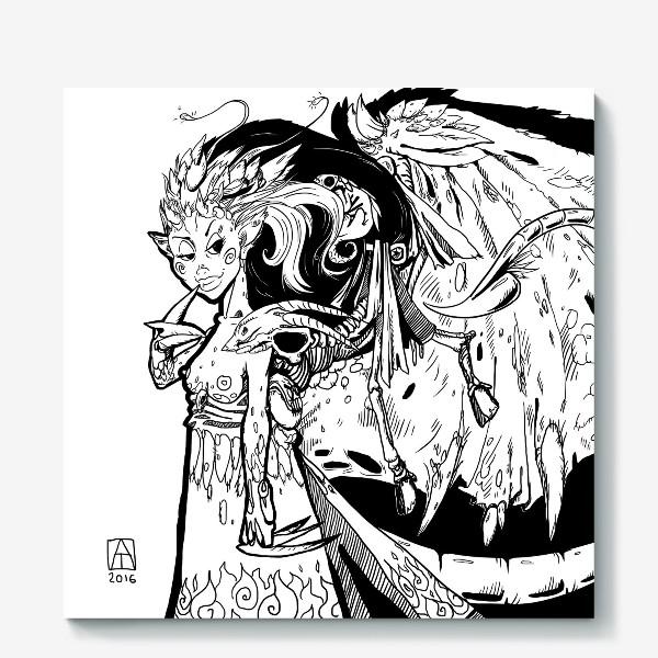 Холст «Маленькая хитрая Дьяволица»