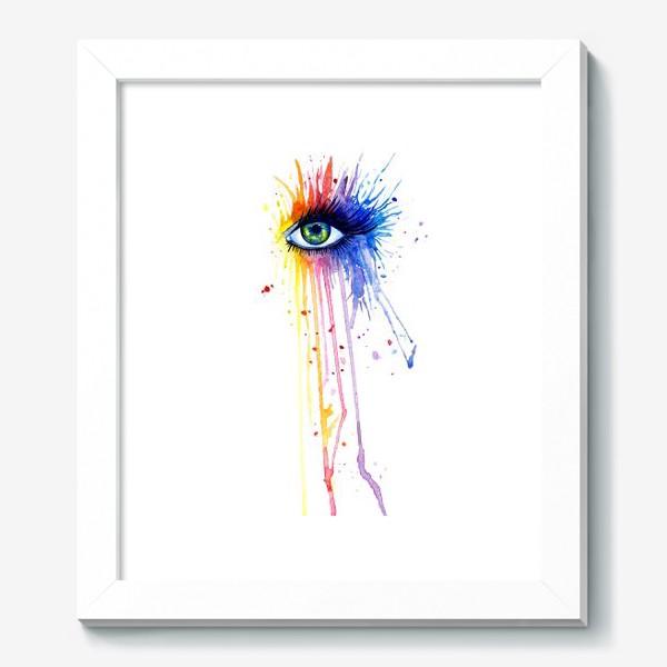 Картина «Акварельный глаз»