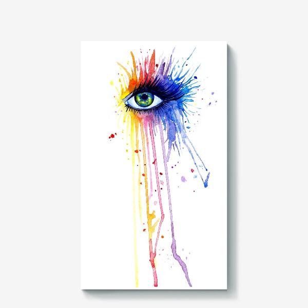 Холст «Акварельный глаз»