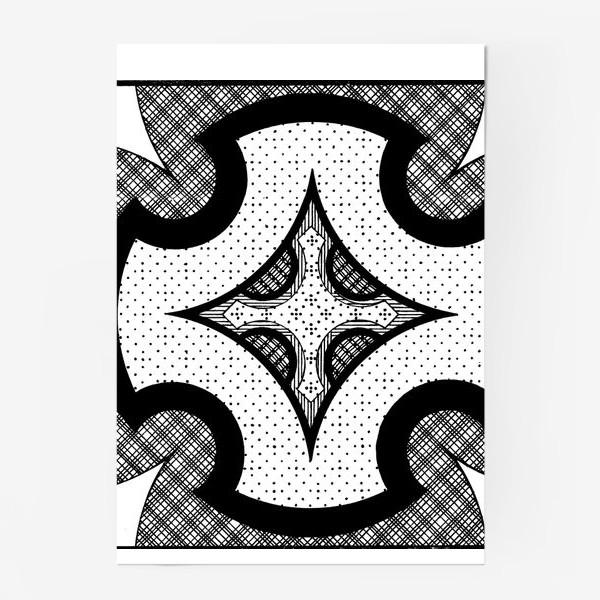 Постер «черно-белая композиция»
