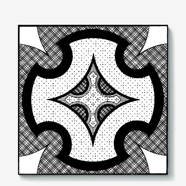 Холст «черно-белая композиция»