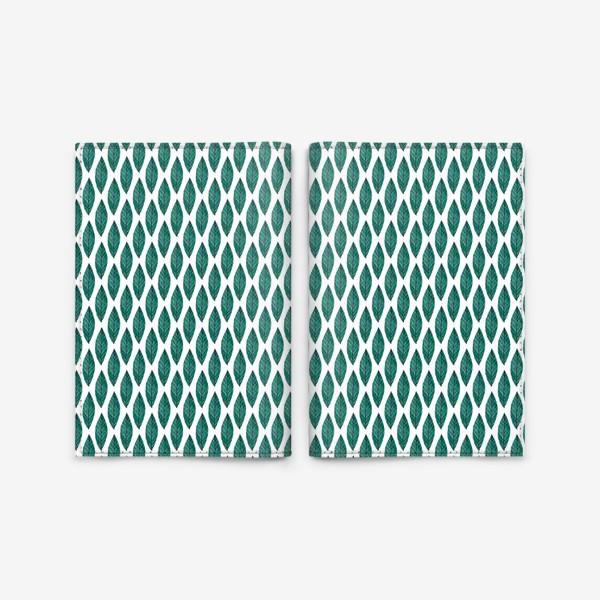 Обложка для паспорта «Зеленые листья»