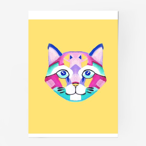 Постер «Геометричный Котик»