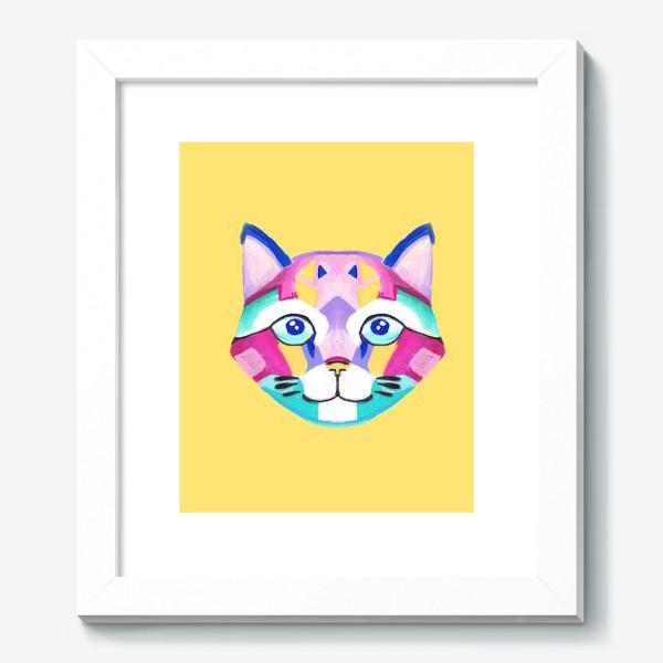 Картина «Геометричный Котик»