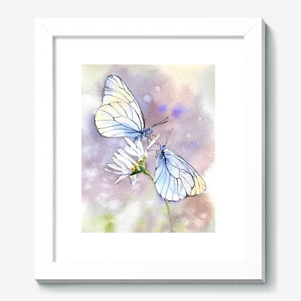 Картина «Акварель Встреча бабочек»