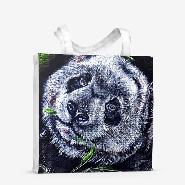 Сумка-шоппер «панда и листик бамбука »