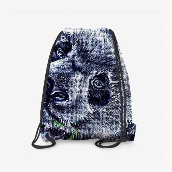Рюкзак «панда и листик бамбука »