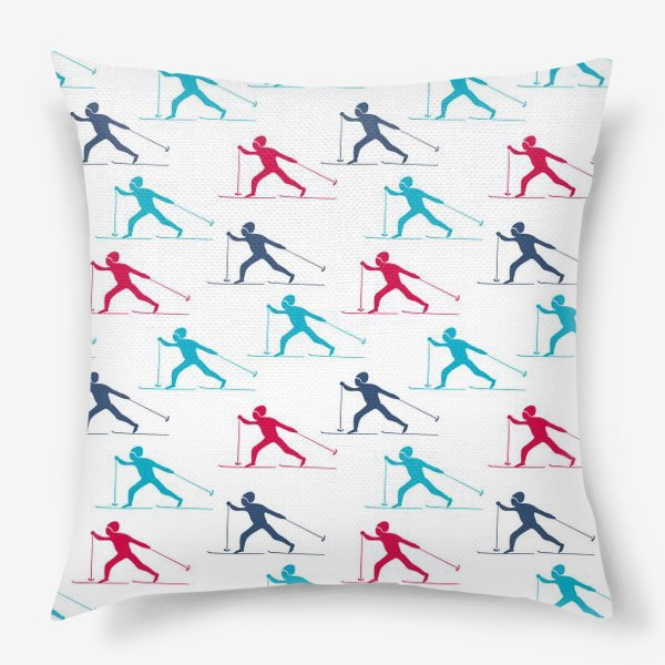 Подушка «Лыжные гонки»