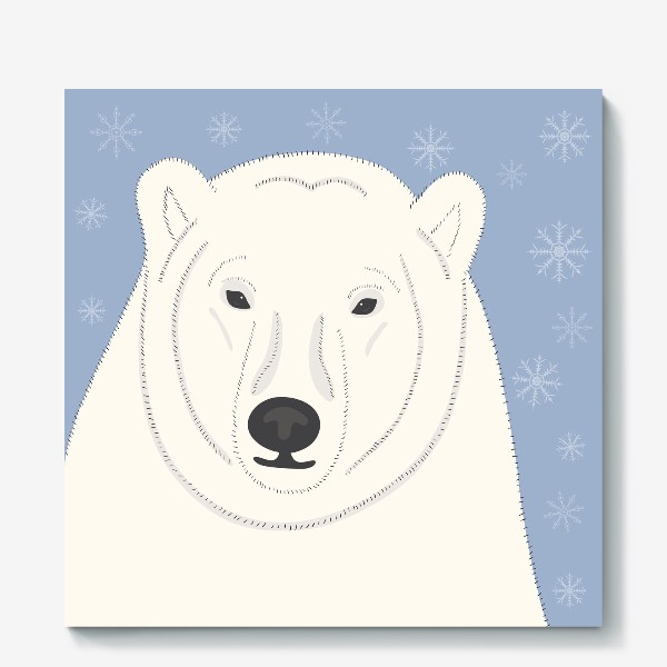 Холст «Белый (полярный, северный) медведь»