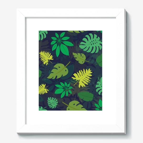 Картина «Паттерн с тропическими листьями №1»