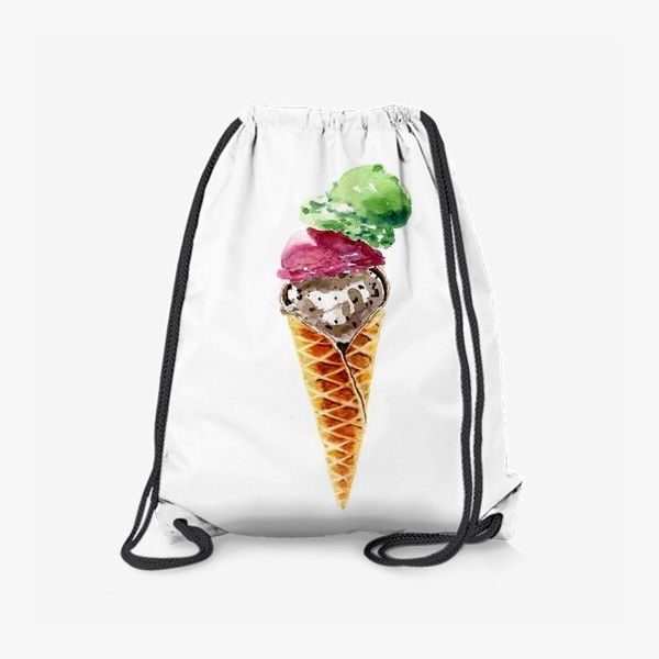 Рюкзак «Три шарика мороженого в вафельном рожке»