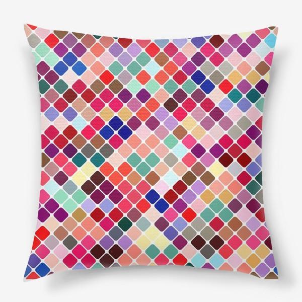 Подушка «Разноцветная плитка»
