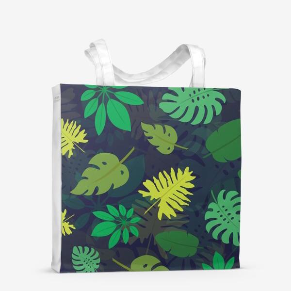 Сумка-шоппер «Паттерн с тропическими листьями №1»