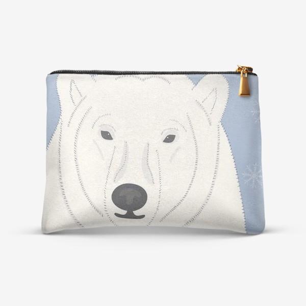 Косметичка «Белый (полярный, северный) медведь»