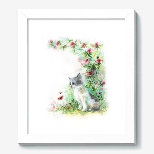 Картина «Котёнок и божья коровка»