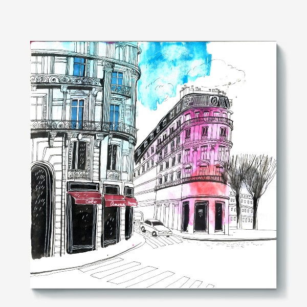 Холст «Париж»
