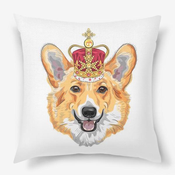 Подушка «корги в короне»