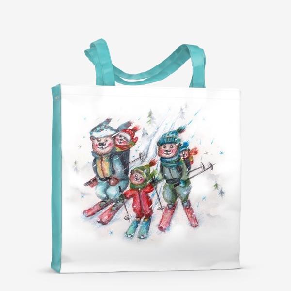 Сумка-шоппер «Мишки на лыжах»