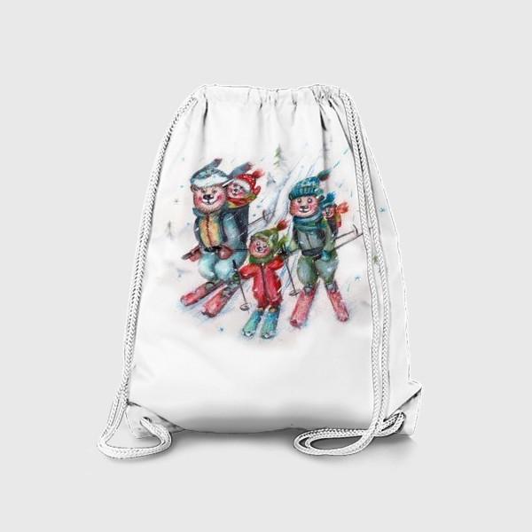 Рюкзак «Мишки на лыжах»