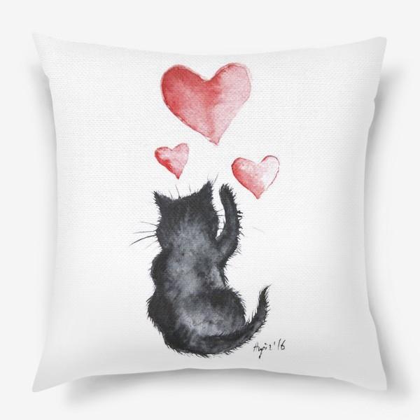 Подушка «Кошачья любовь»