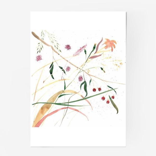 Постер «Абстрактный цветочный орнамент»
