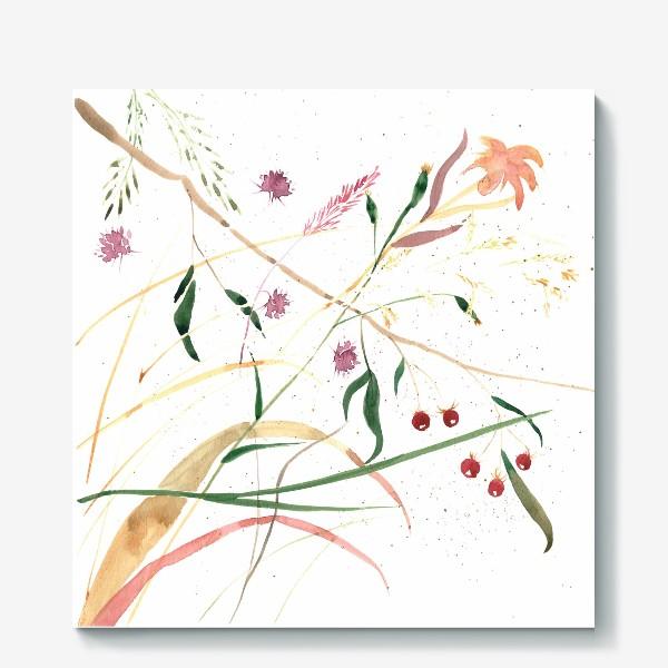 Холст «Абстрактный цветочный орнамент»