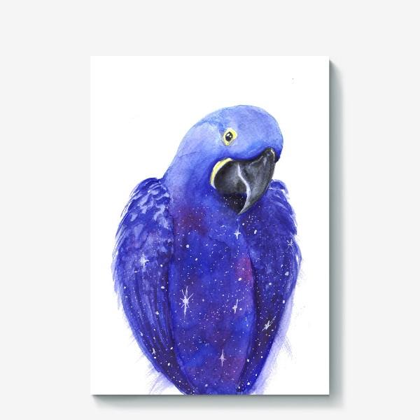 Холст «Космический попугай»