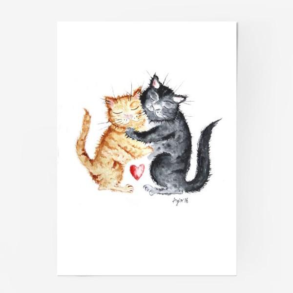 Постер «Влюблённые коты»