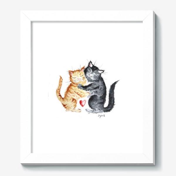 Картина «Влюблённые коты»