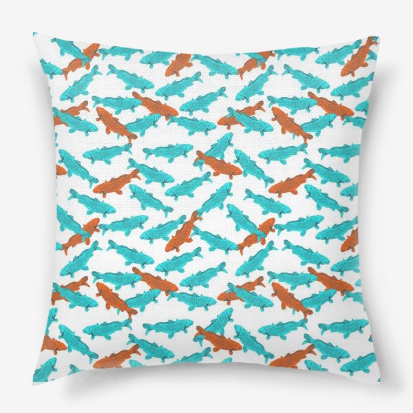 Подушка «Japanese Fish Pattern. Рыбки из Японии»
