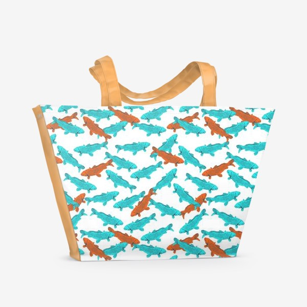 Пляжная сумка «Japanese Fish Pattern. Рыбки из Японии»