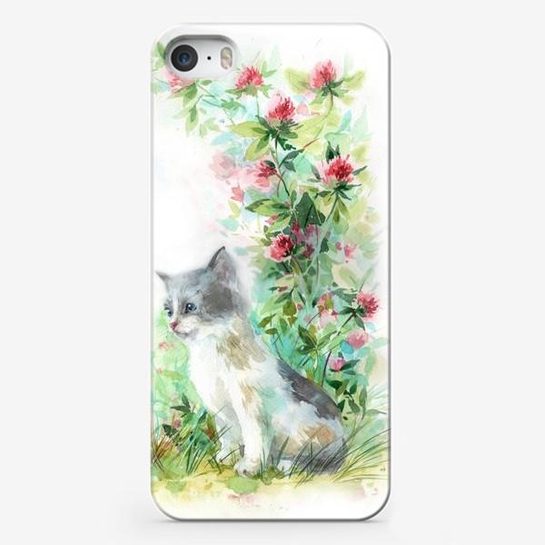Чехол iPhone «Котёнок и божья коровка»
